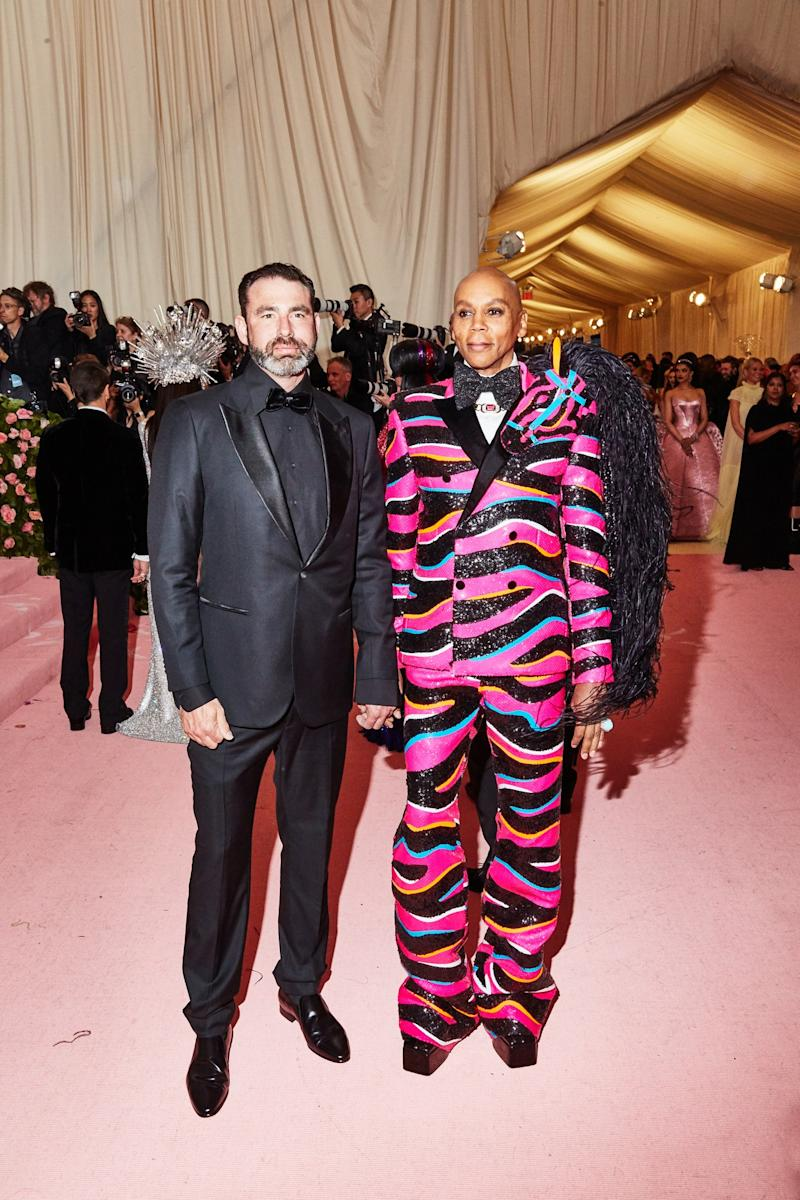 Ru Paul on the red carpet at the Met Gala in New York City on Monday, May 6th, 2019. Photograph by Amy Lombard for W Magazine.