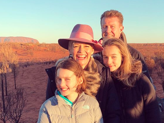 Jess took time away to look after daughter's Allegra and Giselle who she shares with husband Peter Overton. Photo: Instagram/ jessjrowe