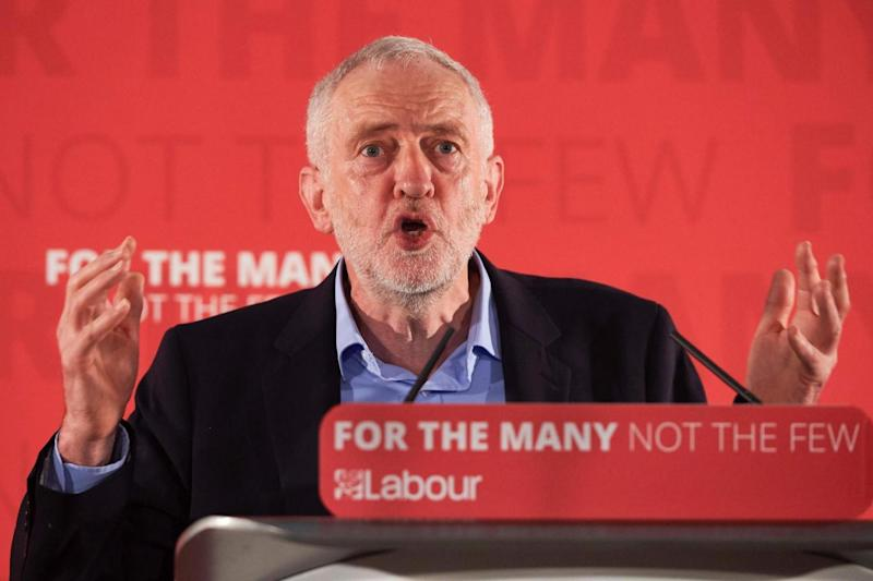 Corbyn: The Labour leader slammed Mrs May's 'simple slogans' (AFP/Getty Images)