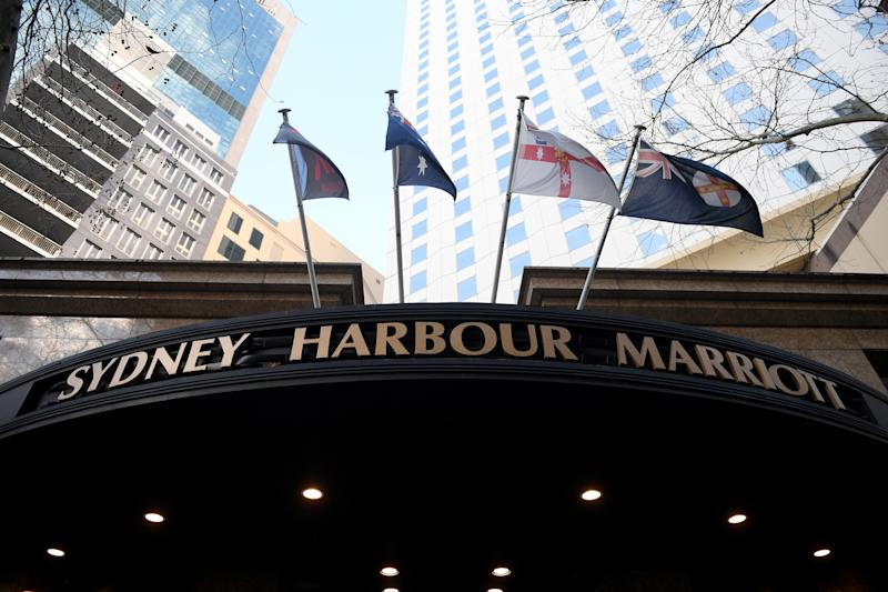 A general view of the Sydney Harbour Marriott Hotel in Sydney, Tuesday, August 18, 2020. Source: AAP
