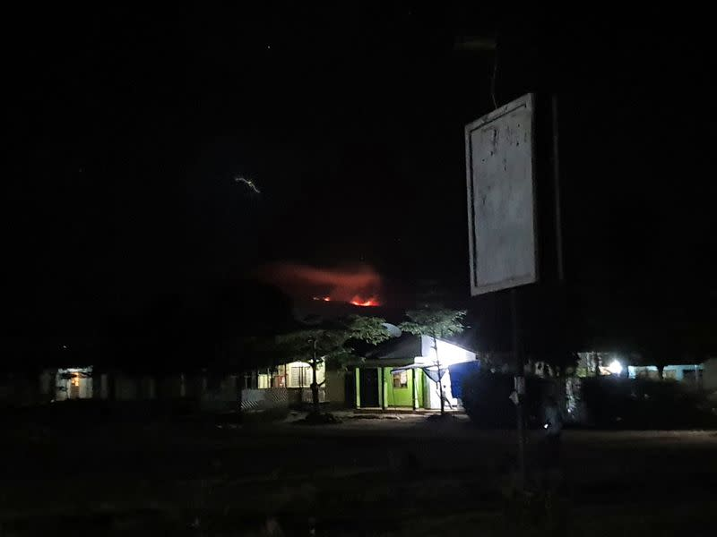 Firefighters try to contain fire on Mount Kilimanjaro
