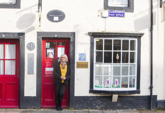 Nazra Alam, manager of Sanquhar Post Office in Dumfries and Galloway (Picture: SWNS)