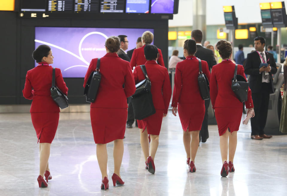 Earlier this week, Virgin Atlantic relaxed its dress code for female cabin crew [Photo: Getty]