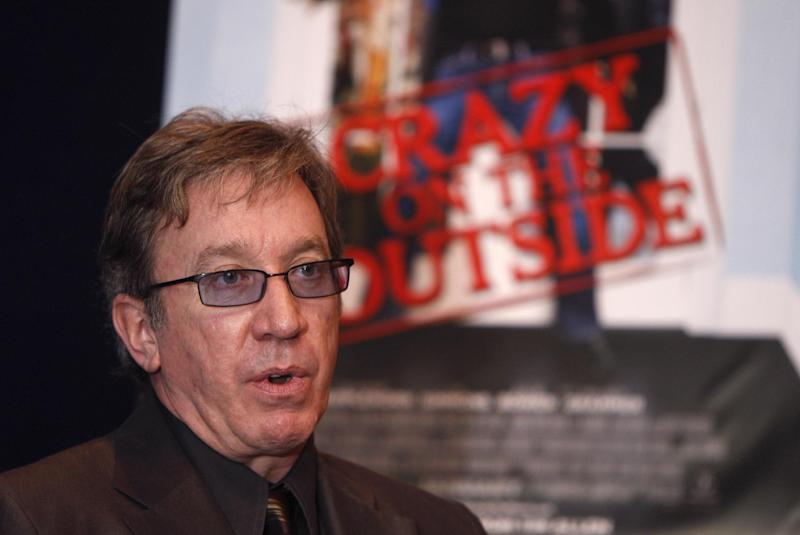 """FILE - In this Dec. 10, 2009 file photo, Tim Allen is interviewed at the Palladium 12 Theatre in Birmingham, Mich. Allen isn't a fan of the n-word, not just the word, but the phrase. The 60-year-old actor-comedian told the Tampa Bay Tribune that the term """"n-word"""" is worse than the racial slur it represents. (AP Photo/Carlos Osorio, File)"""