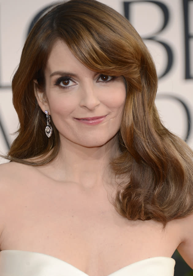 Golden Globes 2013 red carpet: Tina Fey went for a nineties blow dry ©Getty