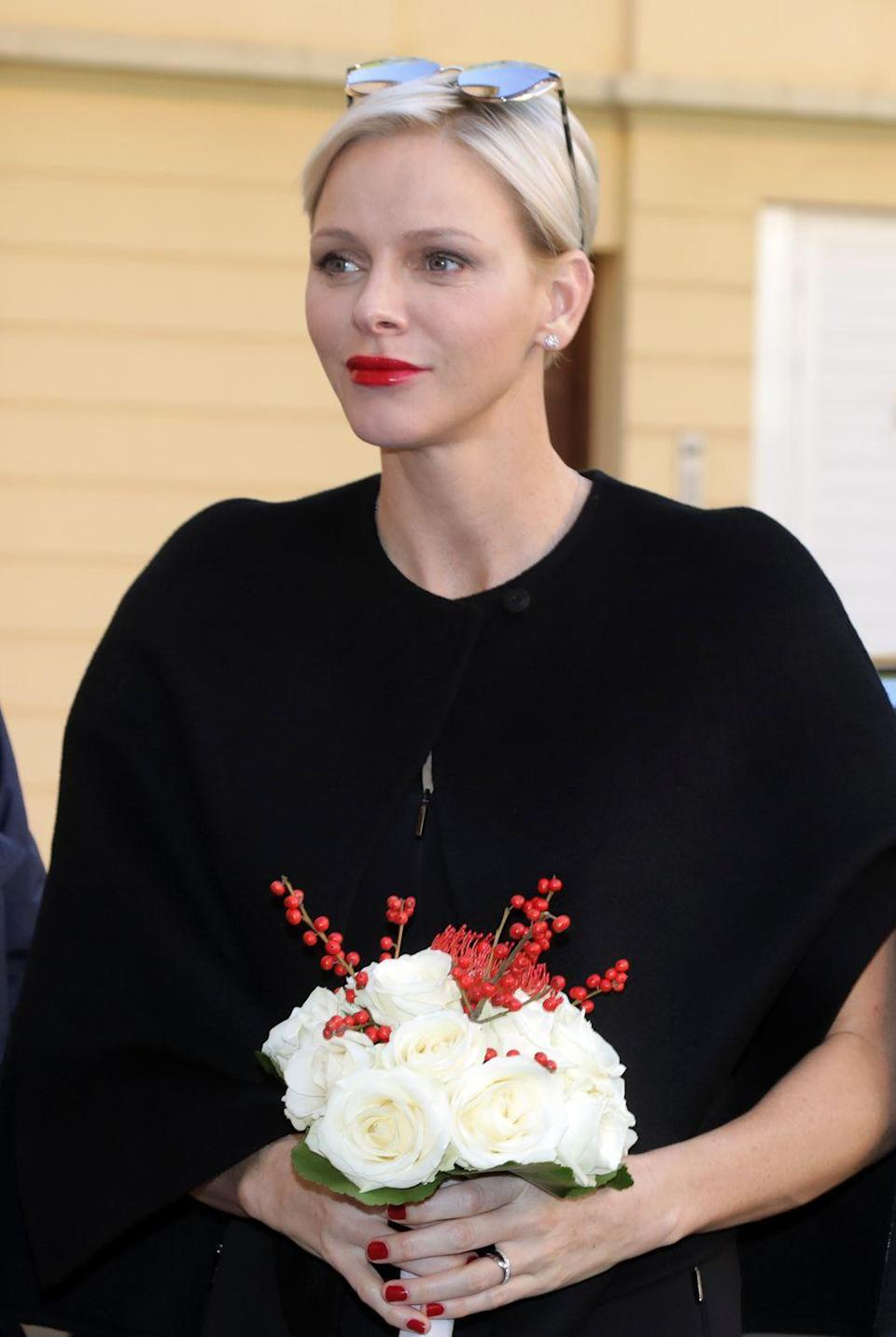 "<p>Before marrying Prince Albert of Monaco in 2010, Charlene was a competitive swimmer, even going as far as representing South Africa at the 2000 Sydney Olympics. In 2014, Charlene gave birth to twins Princess Gabriella and Prince Jacques, the latter of whom is the first in line to take over the Monegasque throne after Albert. The adorable twins are regularly featured on Princess Charlene's official Instagram account. In fact, Charlene marked the siblings' <a href=""https://www.instagram.com/p/Bbcna8MBTvW/"" rel=""nofollow noopener"" target=""_blank"" data-ylk=""slk:first-ever haircut"" class=""link rapid-noclick-resp"">first-ever haircut</a> with a gram on Nov. 13, 2017. </p>"