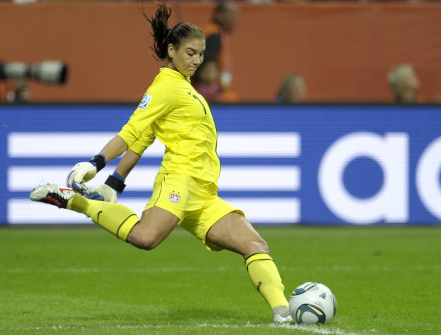 The U.S. goalkeeper Hope Solo. The game ended 5-3 after penalty shootout.