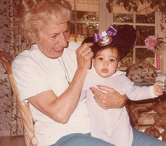 """<p>Kim Kardashian West shared a photo of herself as a baby with her paternal grandmother Helen Kardashian.</p><p><a href=""""https://www.instagram.com/p/BzdZ7gOg2Q9/"""" rel=""""nofollow noopener"""" target=""""_blank"""" data-ylk=""""slk:See the original post on Instagram"""" class=""""link rapid-noclick-resp"""">See the original post on Instagram</a></p>"""