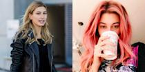 <p>The 19-year-old runway model ditched her signature golden blonde tresses in favour of an ombre cotton candy pink. <i>(Photo: Getty/Instagram/November 2016)</i> </p>