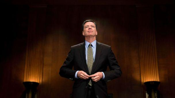 PHOTO: FBI Director James Comey prepares to testify on May 3, 2017 before the Senate Judiciary Committee on Capitol Hill in Washington, D.C. (Jim Watson/AFP/Getty Images, FILE)