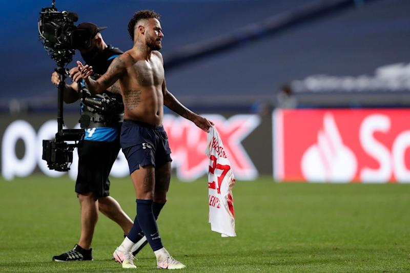 PSG fans fear Neymar could miss Champions League final after swapping shirts with beaten RB Leipzig opponent