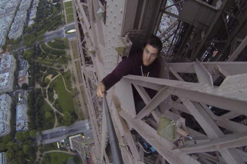 Eiffel Tower: James Kingston scaled the iconic French landmark (Youtube)