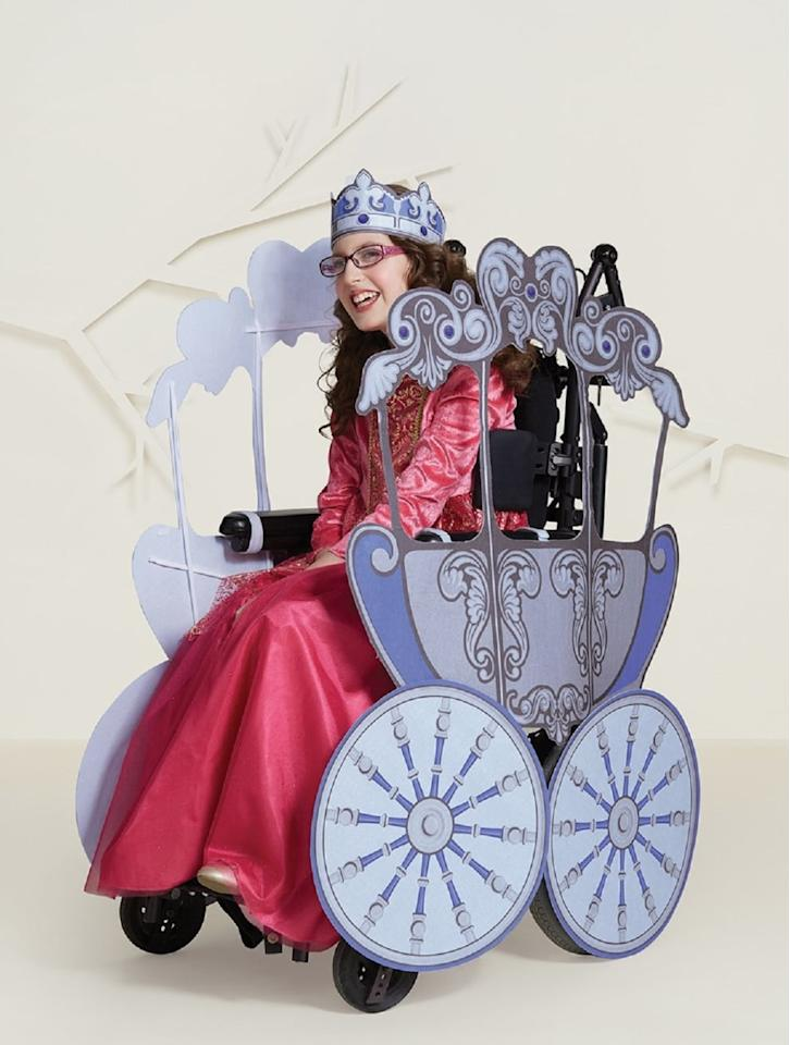 """<p>Turn your wheelchair into the magic carriage you deserve with this beautiful <a href=""""https://www.popsugar.com/buy/Girls%27%20Adaptive%20Princess%20Carriage%20Halloween%20Costume%20Wheelchair%20Cover-470681?p_name=Girls%27%20Adaptive%20Princess%20Carriage%20Halloween%20Costume%20Wheelchair%20Cover&retailer=target.com&price=45&evar1=moms%3Aus&evar9=46404701&evar98=https%3A%2F%2Fwww.popsugar.com%2Ffamily%2Fphoto-gallery%2F46404701%2Fimage%2F46405241%2FGirls-Adaptive-Princess-Carriage-Halloween-Costume-Wheelchair-Cover&list1=target%2Challoween%2Challoween%20costumes%2Challoween%20costumes%202019&prop13=mobile&pdata=1"""" rel=""""nofollow"""" data-shoppable-link=""""1"""" target=""""_blank"""" class=""""ga-track"""" data-ga-category=""""Related"""" data-ga-label=""""https://www.target.com/p/girls-39-adaptive-princess-carriage-halloween-costume-wheelchair-cover-hyde-and-eek-boutique/-/A-76150052"""" data-ga-action=""""In-Line Links"""">Girls' Adaptive Princess Carriage Halloween Costume Wheelchair Cover</a> ($45).</p>"""