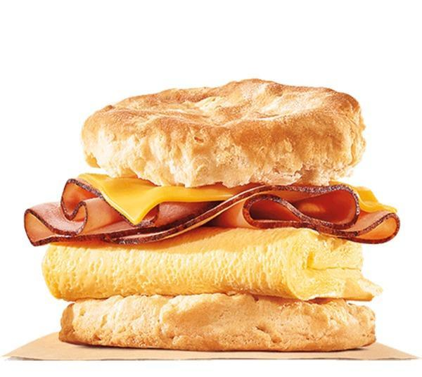 burger king ham, egg and cheese biscuit