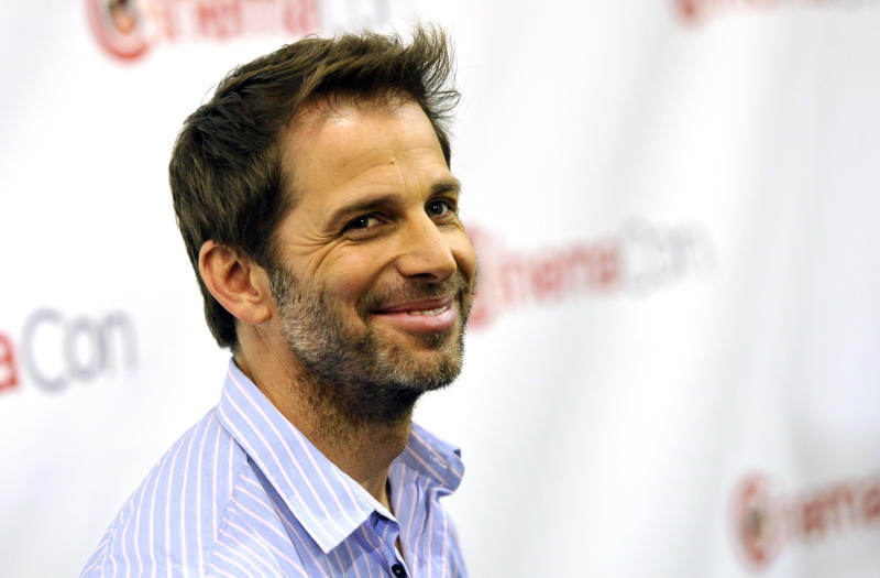 """Zack Snyder, director of the upcoming film """"Man of Steel,"""" poses before the Warner Bros. presentation at CinemaCon 2013 at Caesars Palace on Tuesday, April 16, 2013 in Las Vegas. (Photo by Chris Pizzello/Invision/AP)"""