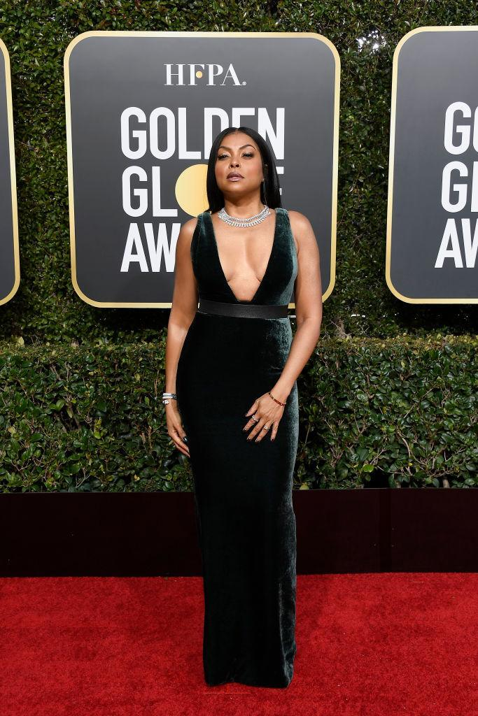 <p>Taraji P. Henson attends the 76th Annual Golden Globe Awards at the Beverly Hilton Hotel in Beverly Hills, Calif., on Jan. 6, 2019. (Photo: Getty Images) </p>