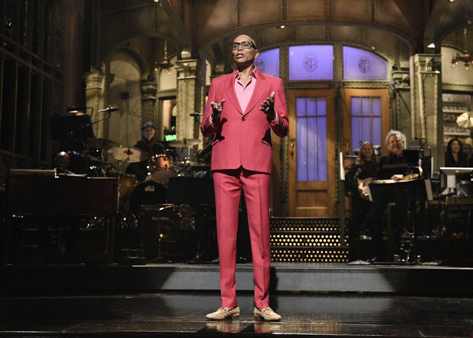 "<p>Well, given RuPaul's <a href=""https://www.menshealth.com/entertainment/g33251675/celebrities-over-6-feet-tall/"" rel=""nofollow noopener"" target=""_blank"" data-ylk=""slk:height"" class=""link rapid-noclick-resp"">height</a> of 6'4"", it makes a ton of sense for people to think he's the one in the costume. But with his birth name being RuPaul Andre Charles, he does share a name with a famous french wrestler/actor—Andre the Giant. If you're not convinced by that, RuPaul is also likely best known for wearing elaborate costumes given his career as a drag queen.</p>"