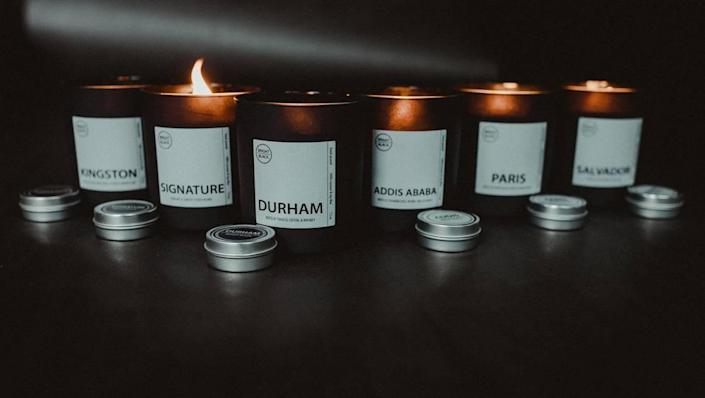 Bright Black has made a set of candles that invoke cities from around the world that are important to the Black Diaspora.