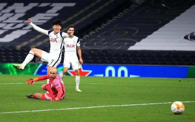 Son Heung-min scored for Tottenham in the 3-0 win over LASK