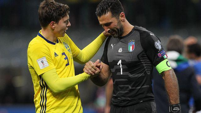 Buffon was gutted. Image: Getty