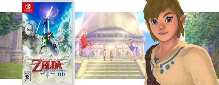 Collage of Zelda screenshot and disc cover