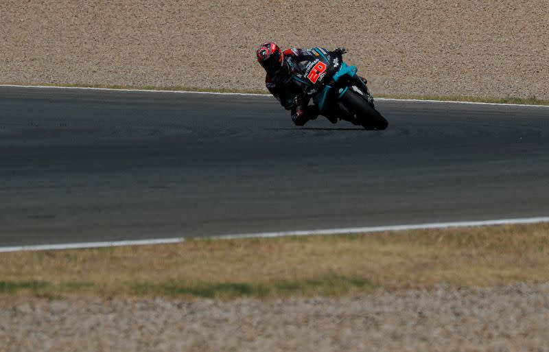 Quartararo on pole at Andalusian Grand Prix, Marquez withdraws