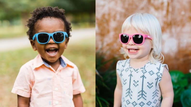 These sunglasses are perfect for tiny faces.