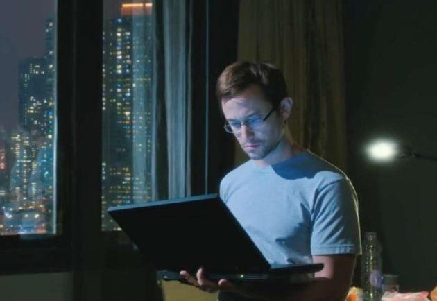 "Joseph Gordon-Levitt plays NSA whistleblower Edward Snowden in a movie opening this week, titled ""Snowden."" (Credit: Open Road Films)"