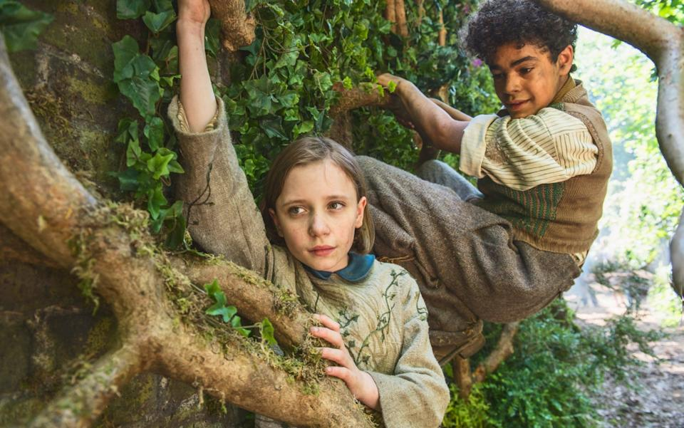 Branching out: Dixie Egerickz and Amir Wilson in the new adaptation of Frances Hodgson Burnett's novel - Getty Images
