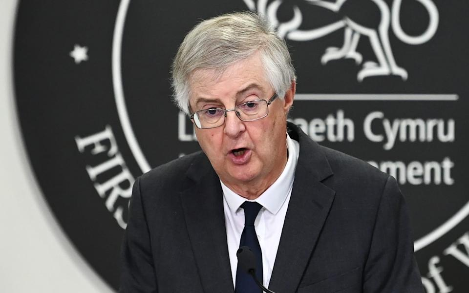 First Minister of Wales Mark Drakeford speaks during a press conference after Welsh cabinet announced that Wales will go into national lockdown from Friday until 9 November - Matthew Horwood/Getty Images