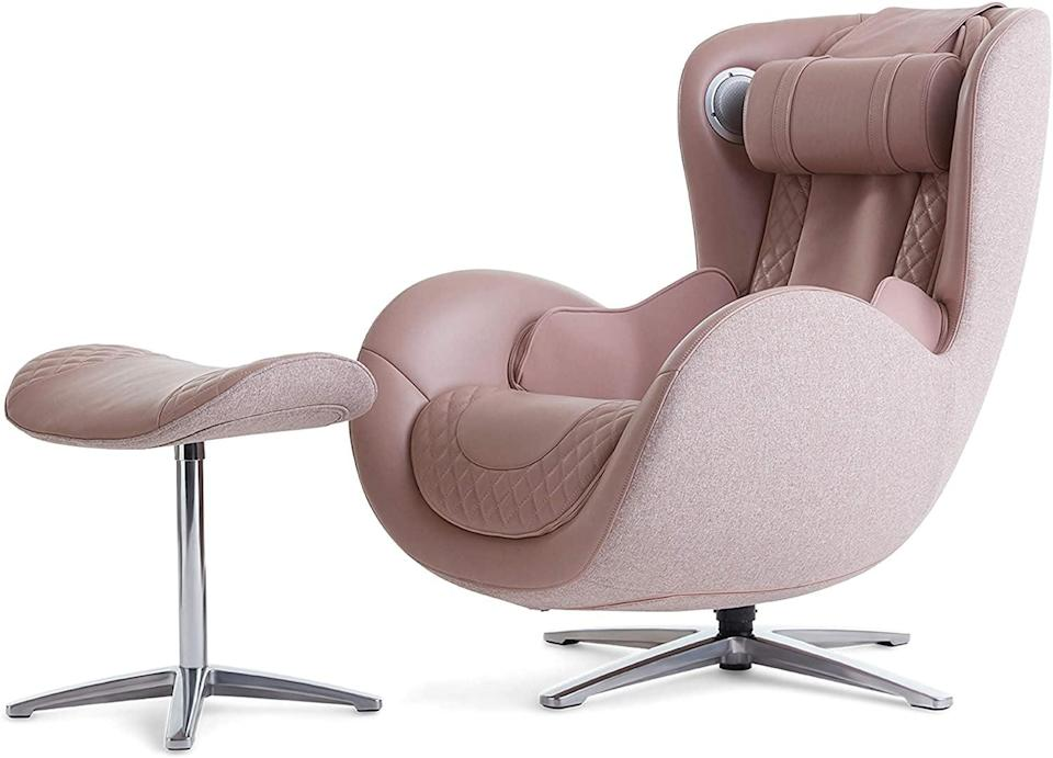 <p>Unlike other massage chairs, the <span>Nouhaus Classic Massage Chair with Ottoman</span> ($1,980, originally $2,200) is incredibly stylish. It's got four heavy-duty rollers that will release tensions from the neck to your thighs however you want. Not only that, it's a recliner and a swivel chair. Plus, it's got it's own bluetooth speaker!</p>