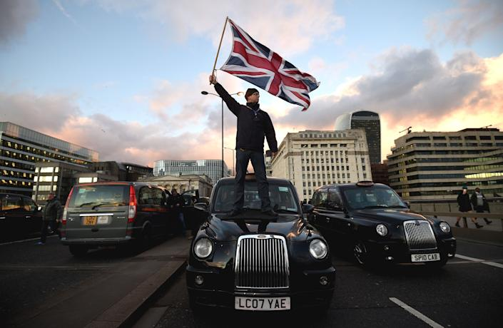 Uber London - Black cab taxi protest