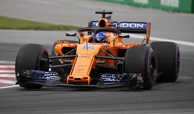 Formula One F1 - Canadian Grand Prix - Circuit Gilles Villeneuve, Montreal, Canada - June 10, 2018 McLaren's Fernando Alonso in action during the race REUTERS/Carlo Allegri