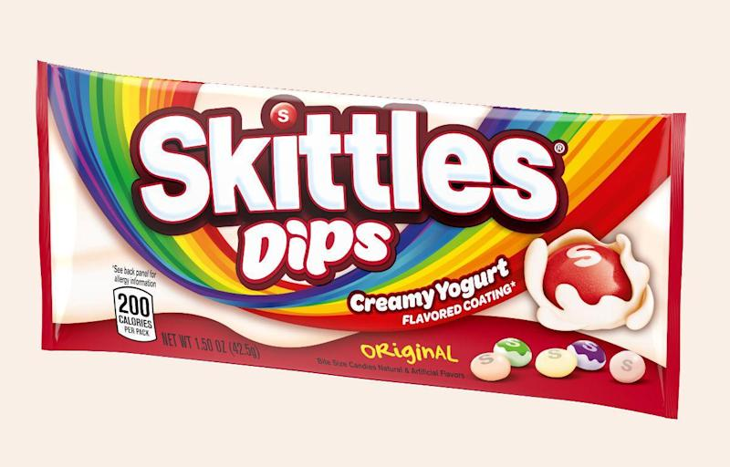 Yogurt-covered Skittles exist, and we tried them