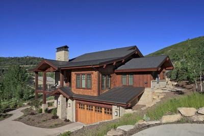 Even darker color metal roofs will reflect more heat-producing non-visible rays, keeping homes cooler in the summer. (credit: MRA member Drexel Metals)
