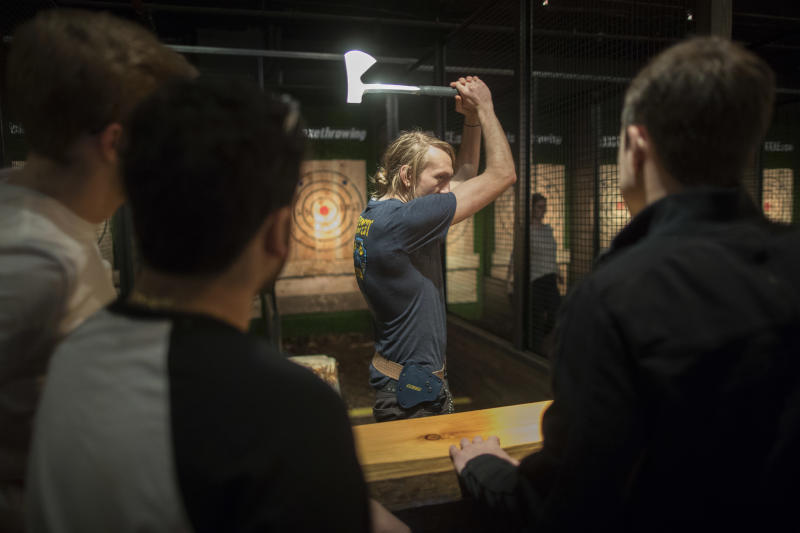 Ax throwing gains in popularity as pastime, sport
