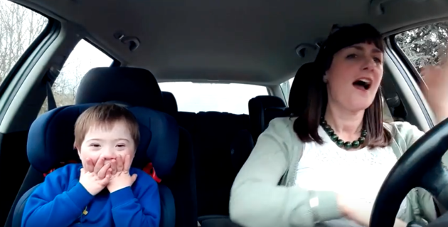 The video features 50 kids who have Downs Syndrome and their mums who all belong to a group. Source: YouTube/DesignerGenes