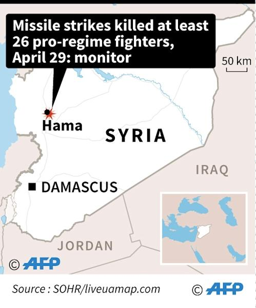 Map of Syria locating deadly missile strikes (AFP Photo/Laurence CHU)