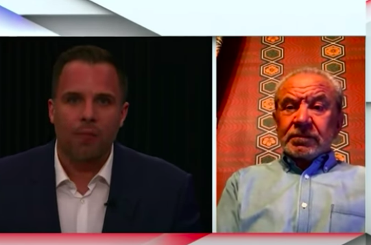 Lord Sugar tears into Dan Wootton's 'stupid bloody question' during awkward GB News interview (GB News)