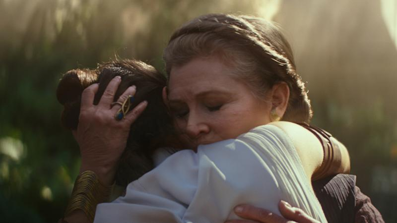 Leia embraces Rey in the Star Wars Episode 9 trailer