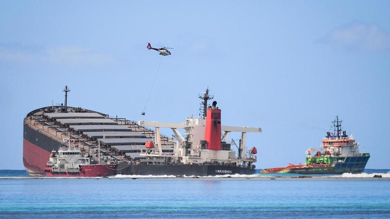 Mauritius arrests captain of ship that caused major oil spill after running aground