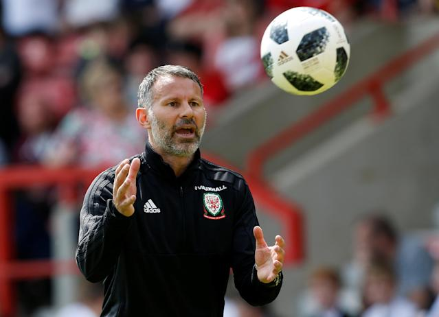 Soccer Football - Wales Training - The Racecourse, Wrexham, Britain - May 21, 2018 Wales manager Ryan Giggs during training Action Images via Reuters/Craig Brough