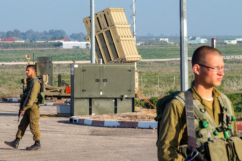 Israel's Iron Dome air defence system intercepted three missiles which were fired from the Sinai Peninsula (AFP Photo/JACK GUEZ)