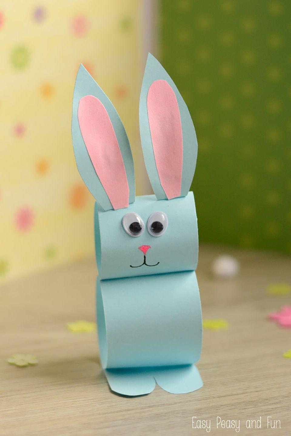 """<p>You'll already have everything you need at home to help your kids create these cute Easter bunnies.</p><p><strong>Get the tutorial at <a href=""""http://www.easypeasyandfun.com/paper-bunny-craft/"""" rel=""""nofollow noopener"""" target=""""_blank"""" data-ylk=""""slk:Easy Peasy And Fun"""" class=""""link rapid-noclick-resp"""">Easy Peasy And Fun</a>. </strong></p>"""