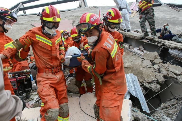 The collapsed building's first floor had been undergoing renovation since before China's Lunar New Year holiday