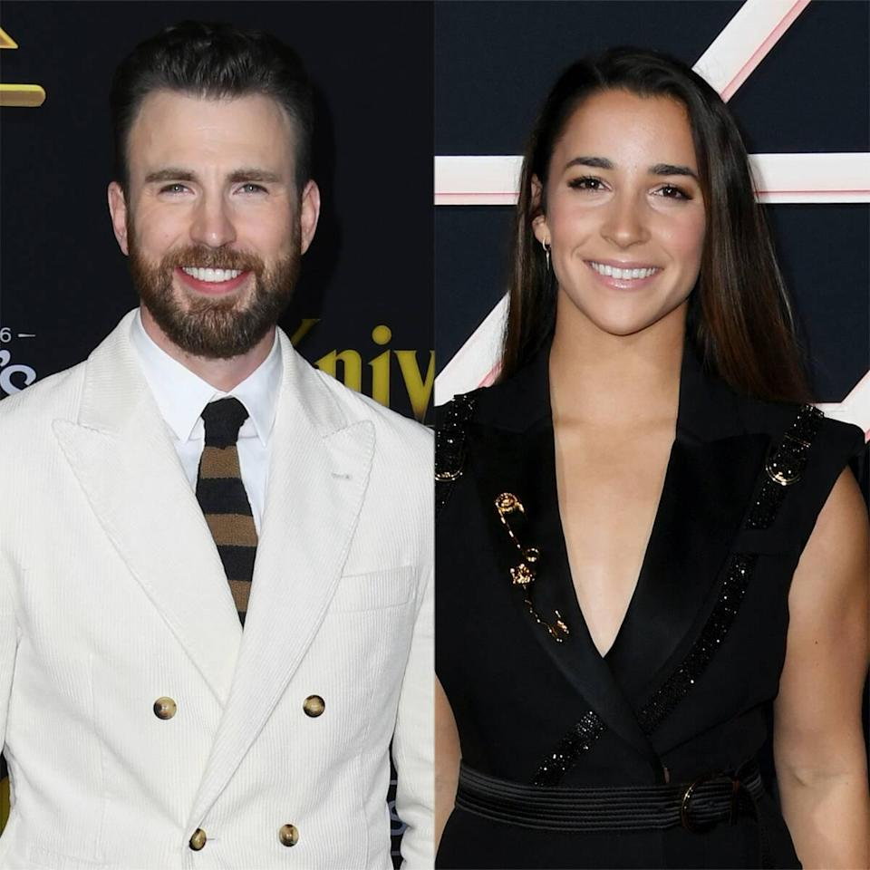 Chris Evans and Aly Raisman's Rescue Dogs Have an Adorable Play Date