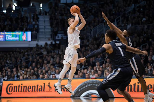 Behind 15 of 22 shooting from behind the arc, Butler toppled No. 1 Villanova on Saturday evening. (Getty)