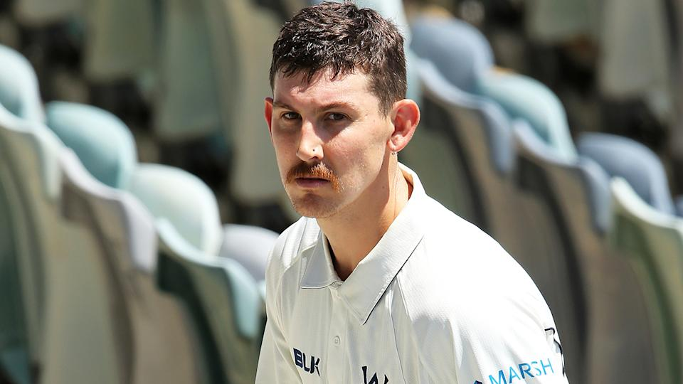Victorian batsman Nic Maddinson, pictured during a Sheffield Shield match, has withdrawn from Australia A's tour match against Pakistan to address mental health issues.