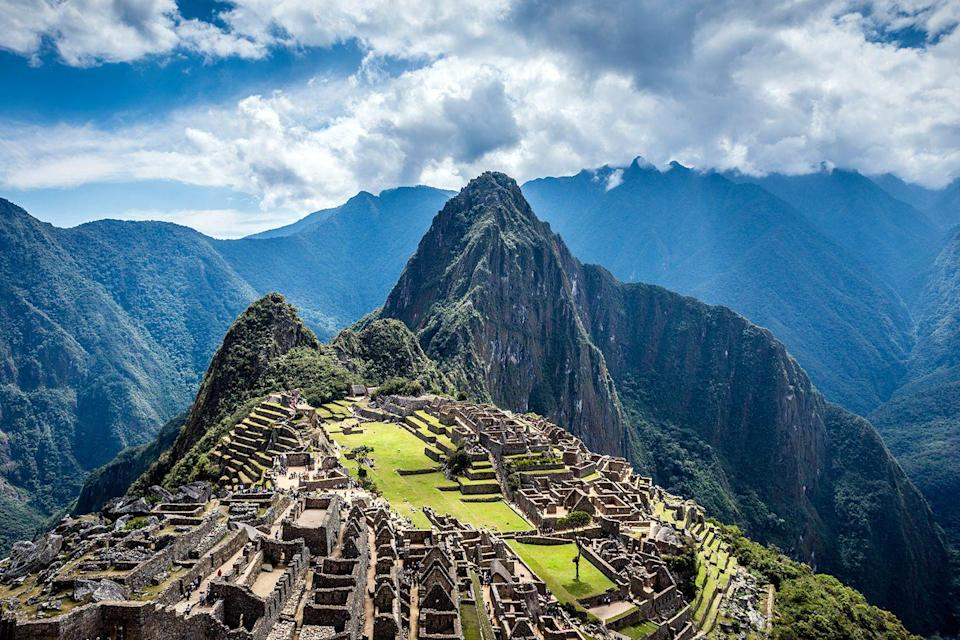 "<p><a href=""https://www.tripadvisor.com/Tourism-g294318-Machu_Picchu_Sacred_Valley_Cusco_Region-Vacations.html"" rel=""nofollow noopener"" target=""_blank"" data-ylk=""slk:This Incan citadel"" class=""link rapid-noclick-resp"">This Incan citadel</a> sits atop the Andes, high above the Urubamba River valley. The awe-inspiring archaeological site is known for its agricultural terraces, abandoned stone structures, and panoramic views. </p>"