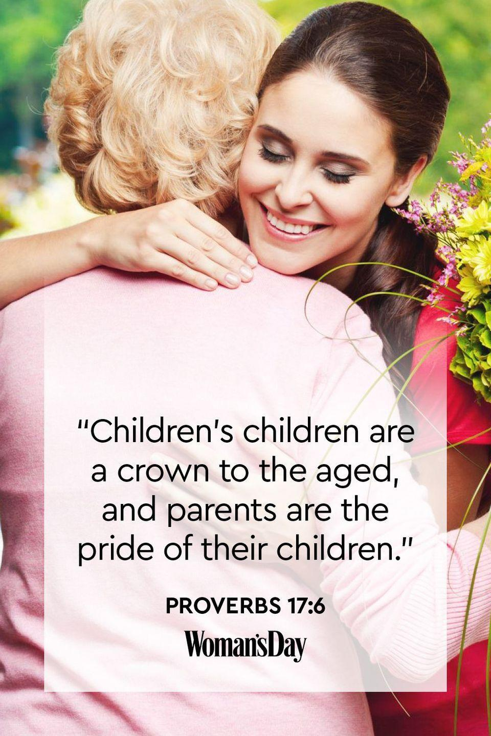 "<p>""Children's children are a crown to the aged, and parents are the pride of their children.""</p><p><strong>The Good News: </strong>When you live in a way that makes your children proud, you provide a legacy of character and faith.</p>"